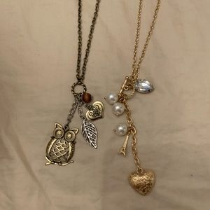 Two cute long necklaces